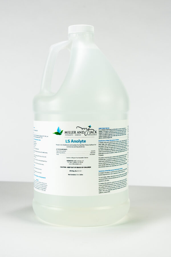 LS Anolyte Surface Disinfectant Gallon by Miller and Jack Disinfectants